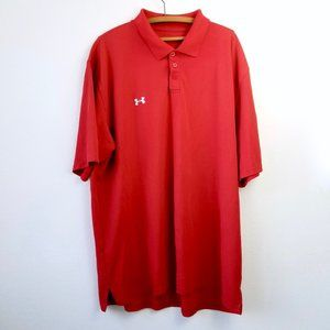 Under Armour Red Sports Short Sleeve Polo Mens XXL